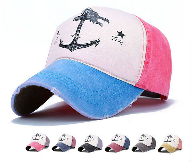 A anchor brand hat! unique baseball caps hiking retro vintage distressed  snapback cotton hats for men women baseball caps 1a7abf05460