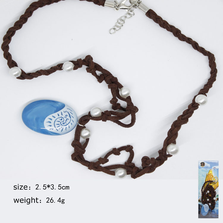 Hot Moana Cosplay Necklace Blue Pendant Handcrafted Necklace Anime Cosplay Collectibles