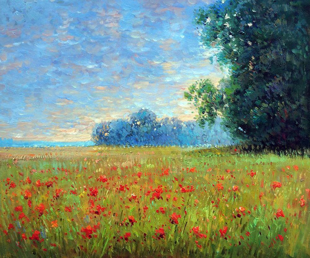 Oat Fields by Claude Monet Landscape Painting Oil on