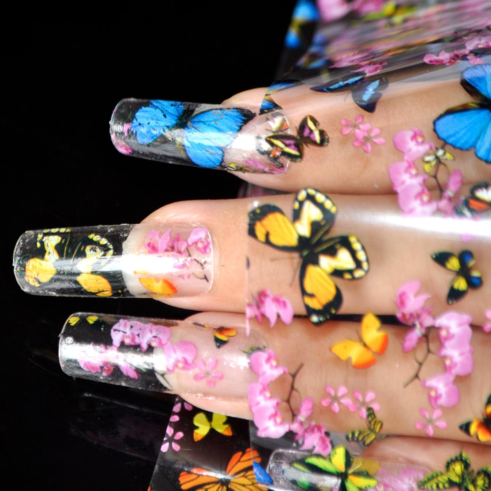 Nail art Transferfolie Aufkleber Schmuck Decals Kunststoff Nagel ...