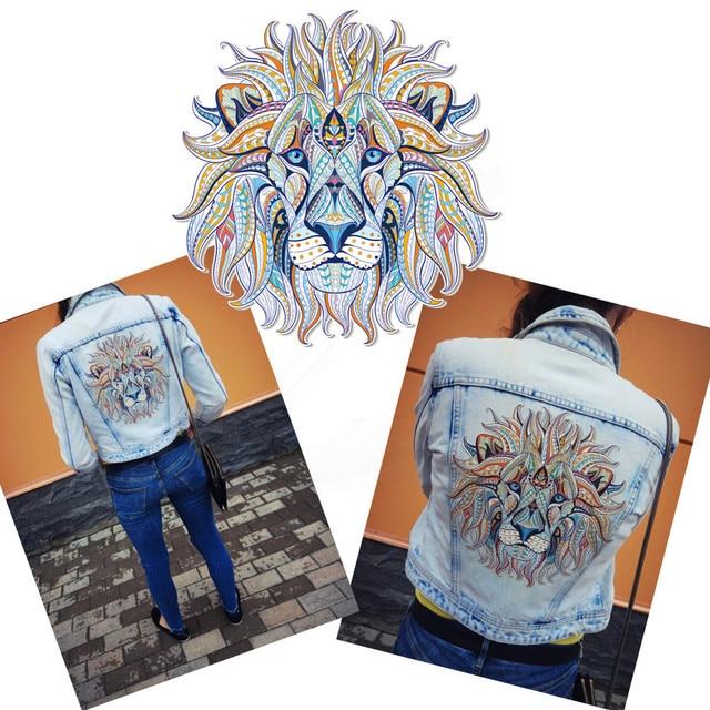 Folk Custom Lion Patch For Clothing Diy T Shirt Hoodies And Denim