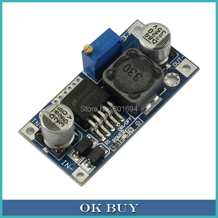 LM2596 <font><b>DC</b></font>-<font><b>DC</b></font> 32/24/14V To 19/12/9/5V <font><b>2A</b></font> Adjustable Non-isolated Voltage Step-down Power Module Converter With Reverse image