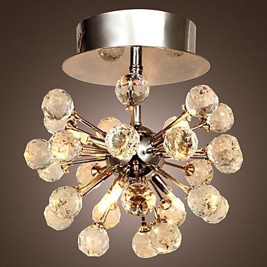 AC110V-220V K9 светодиод Современная хрустальная люстра потолочный светильник с 6 огней, люстры де cristal, блеск de Кристалл Бесплатная доставка