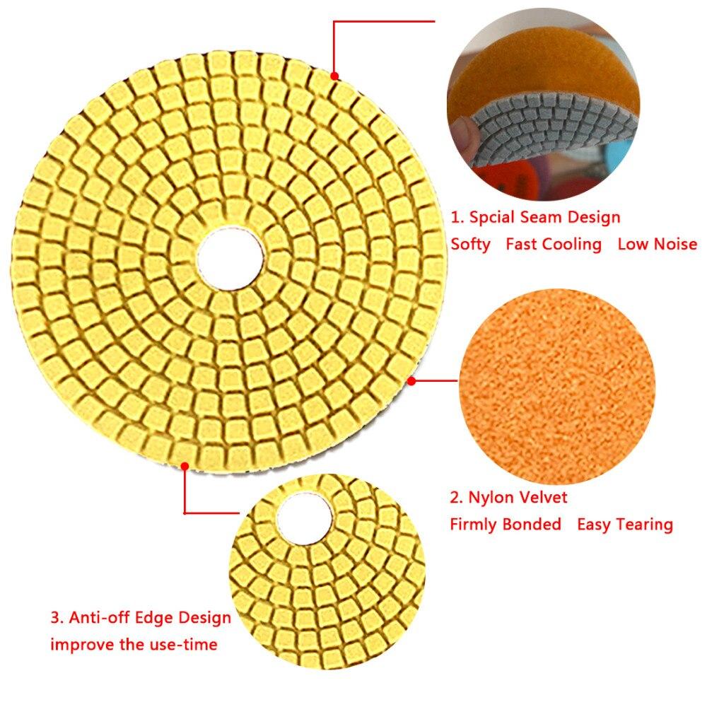 4″ Wet Diamond Grinding Disc Rotary Abrasive Tool Sanding Disc Polishing Wheel Pad Concrete Stone Circular Sandpaper