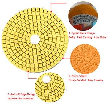 4″ Wet Diamond Grinding Disc Rotary Abrasive Tool Sanding Disc Polishing Wheel Pad Concrete Stone Circular Sandpaper Abrasive Tools