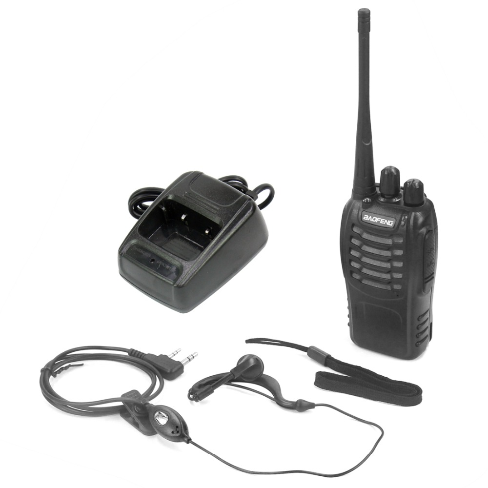Baofeng Walkie Talkie BF-888S 5W Portable CB Radio With Earphone UHF 400-470MHz 16CH Comunicador Transmitter Transceiver