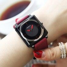 Лидирующий бренд, квадратные женские часы-браслет, наручные часы с кожаными кристаллами, женские кварцевые часы, Прямая поставка