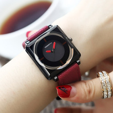 2018 Top Brand Square Women Bracelet Watches Contracted Leat