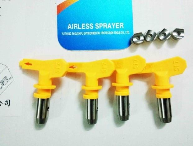 قطعات اسپری رنگ سنگین Airless قطعات اسپری نکات 515/517/519/521 سبک های مخلوط مورد استفاده در سمپاش رنگ ابزار Airless