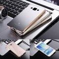 Caixa de metal para samsung galaxy a5 a5000 a500f moldura de alumínio painel de acrílico de luxo caso duro ultra-fino telefone capa protetora