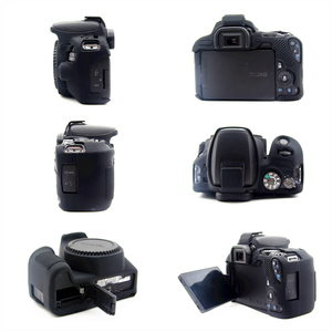 Image 5 - Rubber Silicon Case Soft Body Cover Protector Skin for Canon EOS 200D 250D / 200D II Rebel SL2 SL3 Kiss X9 X10 DSLR Camera