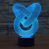 Novelty USB Touch 3D LED Light Beautiful Decoration For Room Hotel House