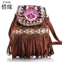 XIYUAN МАРКА Повседневная китайский 2016 национальная вышивка сумка, женская Модная Цветок Сумки На Ремне, Вышитые сумки рюкзаки