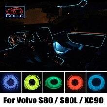 Новые Консоли Автомобиля Декоративные Полосы/9 М Набор EL Wire для Volvo S80/S80L/XC90/Интерьер Автомобиля Романтическую Атмосферу лампы