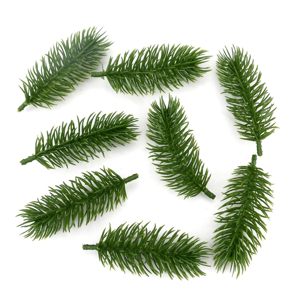 Artificial Christmas Tree Branches.Us 6 89 50pcs 10cm Artificial Plants Pine Branches Christmas Tree Wedding Decorations Diy Handcraft Accessories Children Gift Bouquet In Artificial