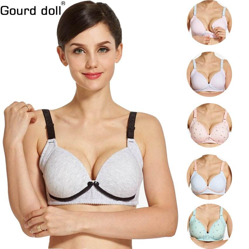 Gourd Doll Breast Feeding Maternity Nursing Bra Sleep Bras For Feeding Nurse Pregnant Women Soutien Gorge Allaitement Clothing