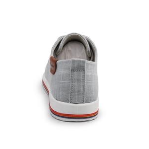 Image 5 - Классические Zapatillas; Новое поступление; сезон весна лето; удобная повседневная обувь; Мужская парусиновая обувь для мужчин; дышащая обувь на плоской подошве со шнуровкой