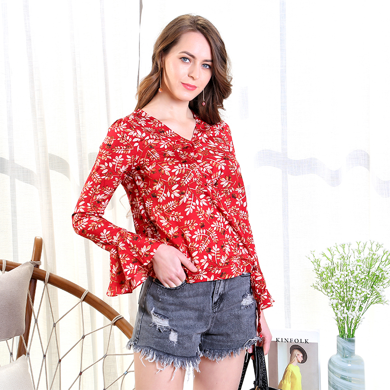 Women's Clothing Mishow Lace Casual Chiffon Women Blouse 2019 Summer Beach Holiday Thin Coats Lantern Sleeves Solid Female Tops Mx18b4894