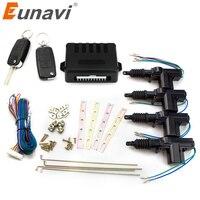 Eunavi universal car power door lock actuator 12 Volt Motor (4 Pack) Car Auto Remote 4 Door Bracket Keyless Entry System