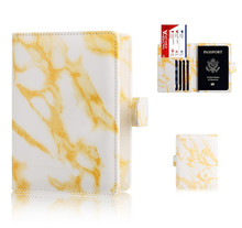 High Quality Colorful Marble Style Passport Cover Waterproof Holder Travel Case Packet