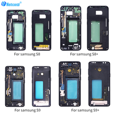 Netcosy For Samsung S8 S9P S9 S8Plus Housing Middle Frame Bezel Plate Cover Repair For Samsung Galaxy S9 S9Plus S8 S8 Plus Cover