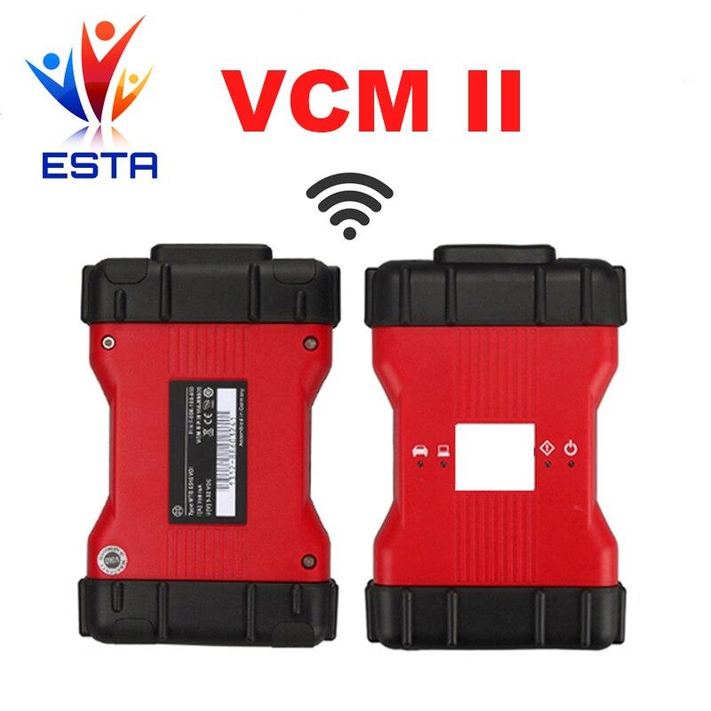 Цена за Новейшие V101 VCM2 wifi функция VCM II 2 в 1 для Fd и для Mazda VCM диагностический Интерфейс с кейсом 2 DHL Бесплатно доставка