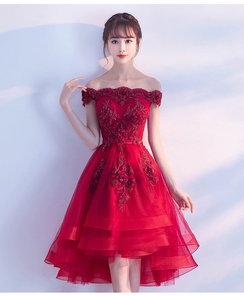 1fffb02a19a Detail Feedback Questions about Wine Red High Low Prom Dresses 2019 ...