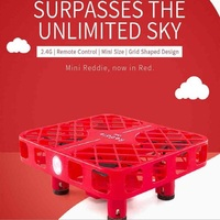 New mini Pocket RC Drone D3 China red mesh mini four axis aerocraft mini pocket remote control drone aircraft crash proof toy