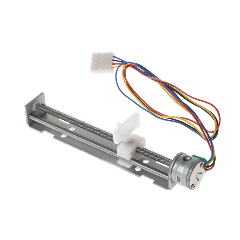 New Drive Stepper Motor Screw with Nut DC 4-9V Drive Stepper Motor Screw with Nut Slider 2 Phase 4 Wire For Laser Engraving hot 42bygh33 two phase 4 wire screw linear stepper motor drive screw length of 100