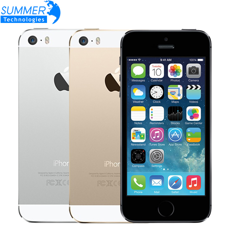 Original Apple iPhone 5S Unlocked Mobile Phone 4.0 IPS HD Dual Core A7 GPS iOS 8MP 16GB/32GB/64GB Used Smartphone ...