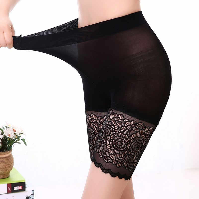 Spodenki damskie spodnie wysokiej talii czarne koronkowe spodnie ochronne kobiece miękkie wygodne bielizna ochronna bokser