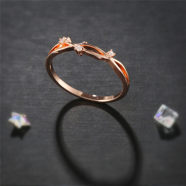4178c07bb ROMAD Rose Gold Rings for Women Elves Rings Elf Finger Ring AAA CZ Wedding  Accessories for Bridal Engagement Ring R4-in Engagement Rings from Jewelry  ...