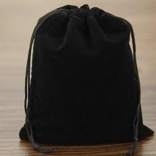 2016 Cheap 100Pcs 8x10cm Black Velvet Drawstring Pouch Bag/Jewelry Bag,Christmas Wedding Gift Bags & Pouches