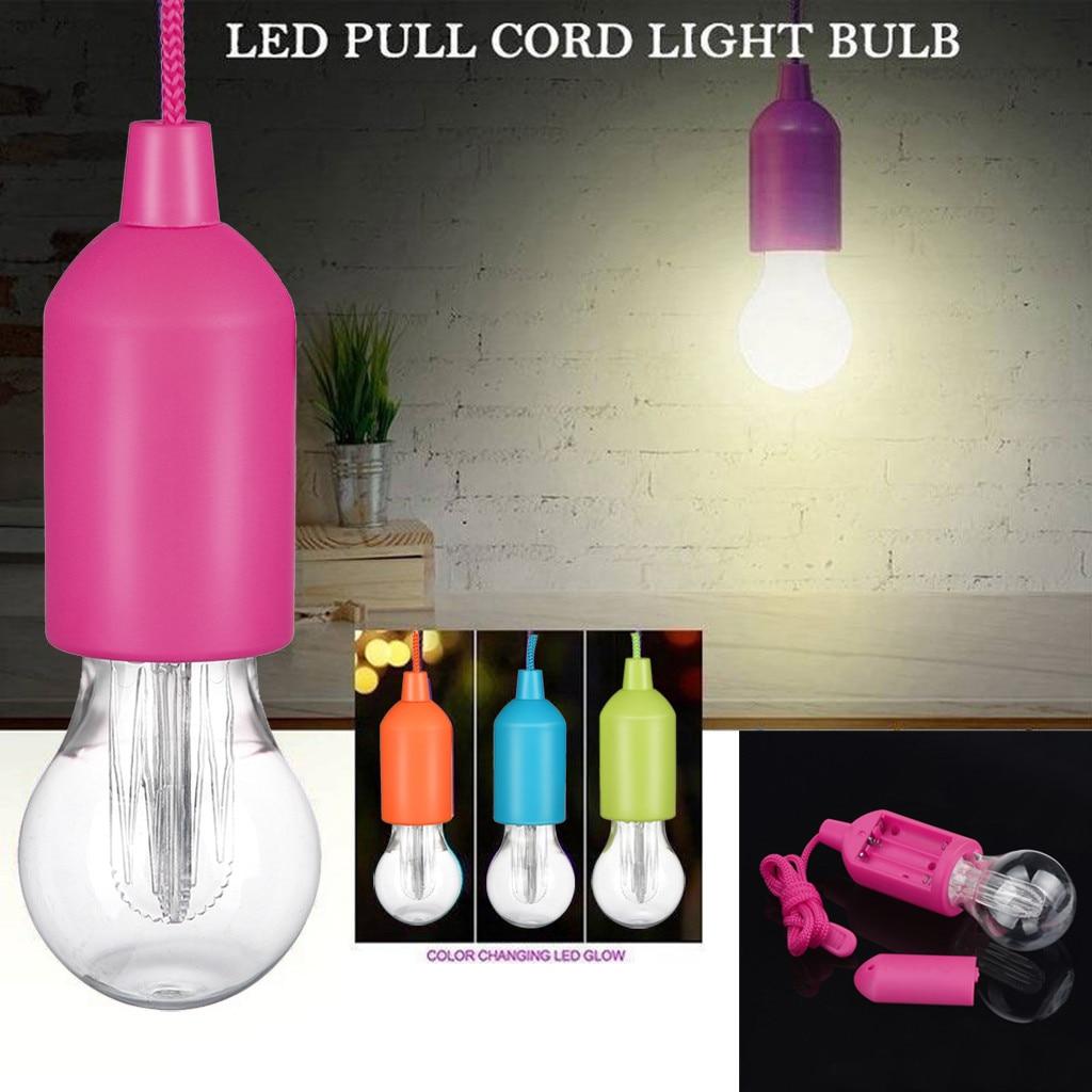 Portable Led Bulb Light On A Rope Reading Lamp White