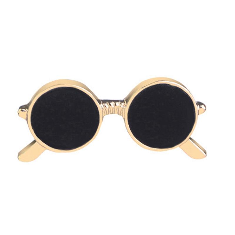 Men Black Eyeglasses Brooch Cute Sunglass Brooch Gold