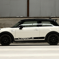 2 pieces of Car Styling Door Side Racing Stripes Skirt Body Decal Stickers for BMW MINI Cooper S F56 Decal 2014 2018 Accessories