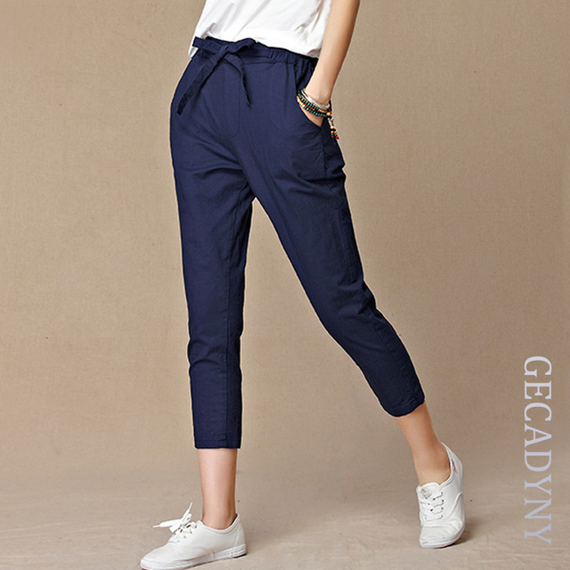 5fe45dd20bf9 New 2018 Spring Summer Women Pants Casual Cropped Trousers Pants & Capris  Harem Pants Women Overall Fashion Students Pants S-4XL