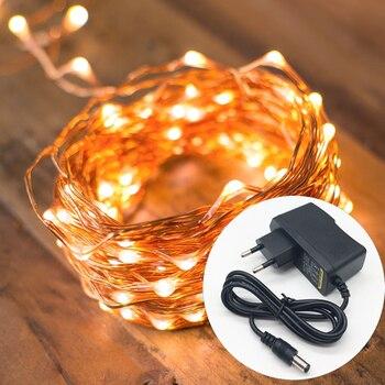 d9558ca39ad 30 20 10 M 300 LED de alambre de cobre Alambre de LED hadas cadena luces  con 220 V enchufe para al aire libre vacaciones de Navidad boda guirnaldas  de ...