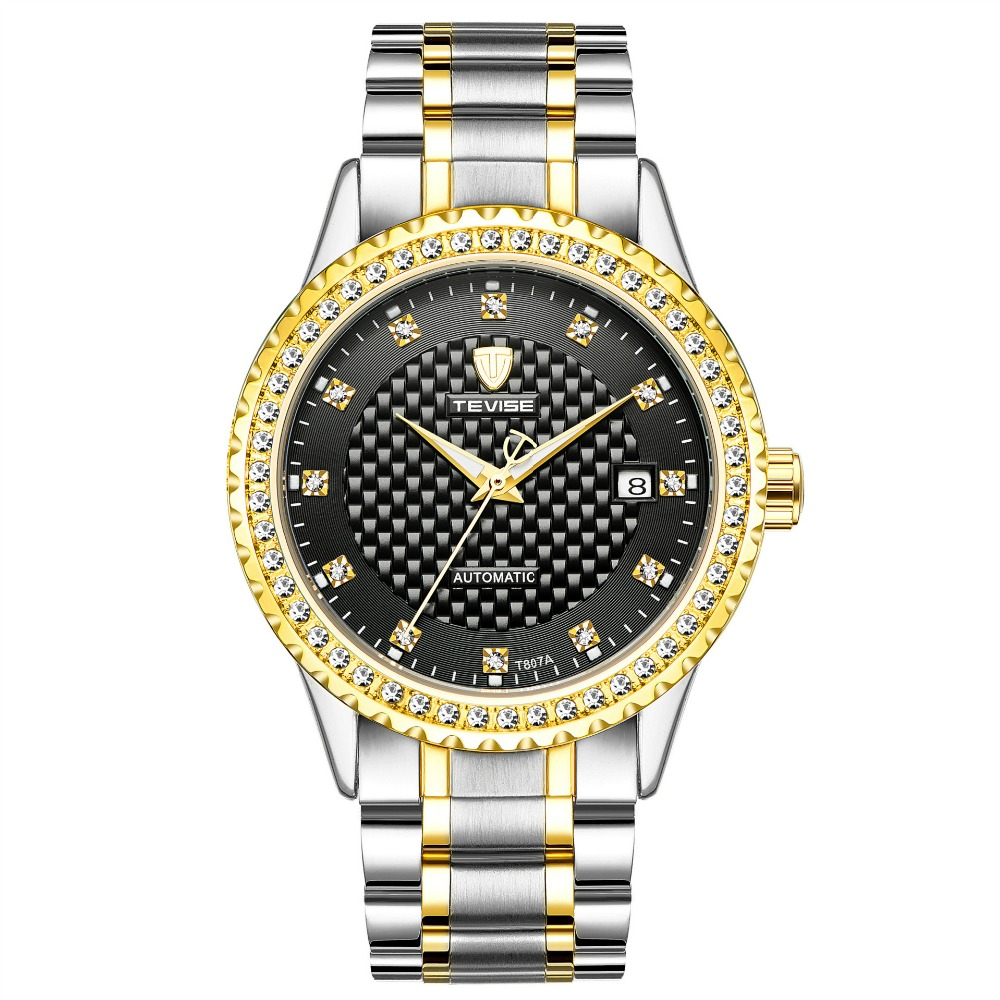 New Tevise Luxury Brand Watch Mechanical Watch Men Business Diamond Wristwatches Automatic Watches Men Clock Relogio Masculino luxury swiss brand watch mechanical watch men business wristwatches automatic watches men clock relogio masculino reloj hombre