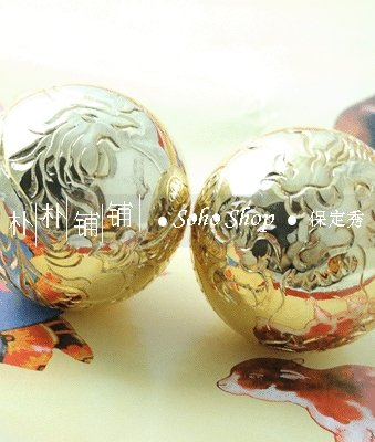 Free shipping.Precious 50mm handcarved baoding iron balls.Well - Home Decor - Photo 2