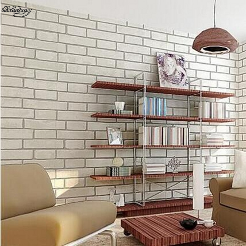 Beibehang Rock Classic Brick Design Model Selection Wall Embossed Non Woven Paper Papelde Parede3Dwallpaper Interior
