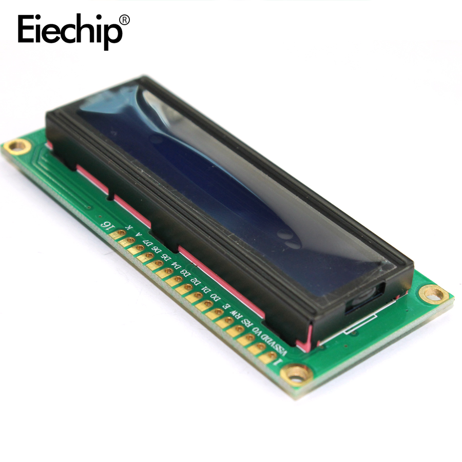 LCD1602 1602 Display Module 3.3V LCD 1602 Blue Screen Character LCD Display Module Blue Blacklight For Arduino LCD Display