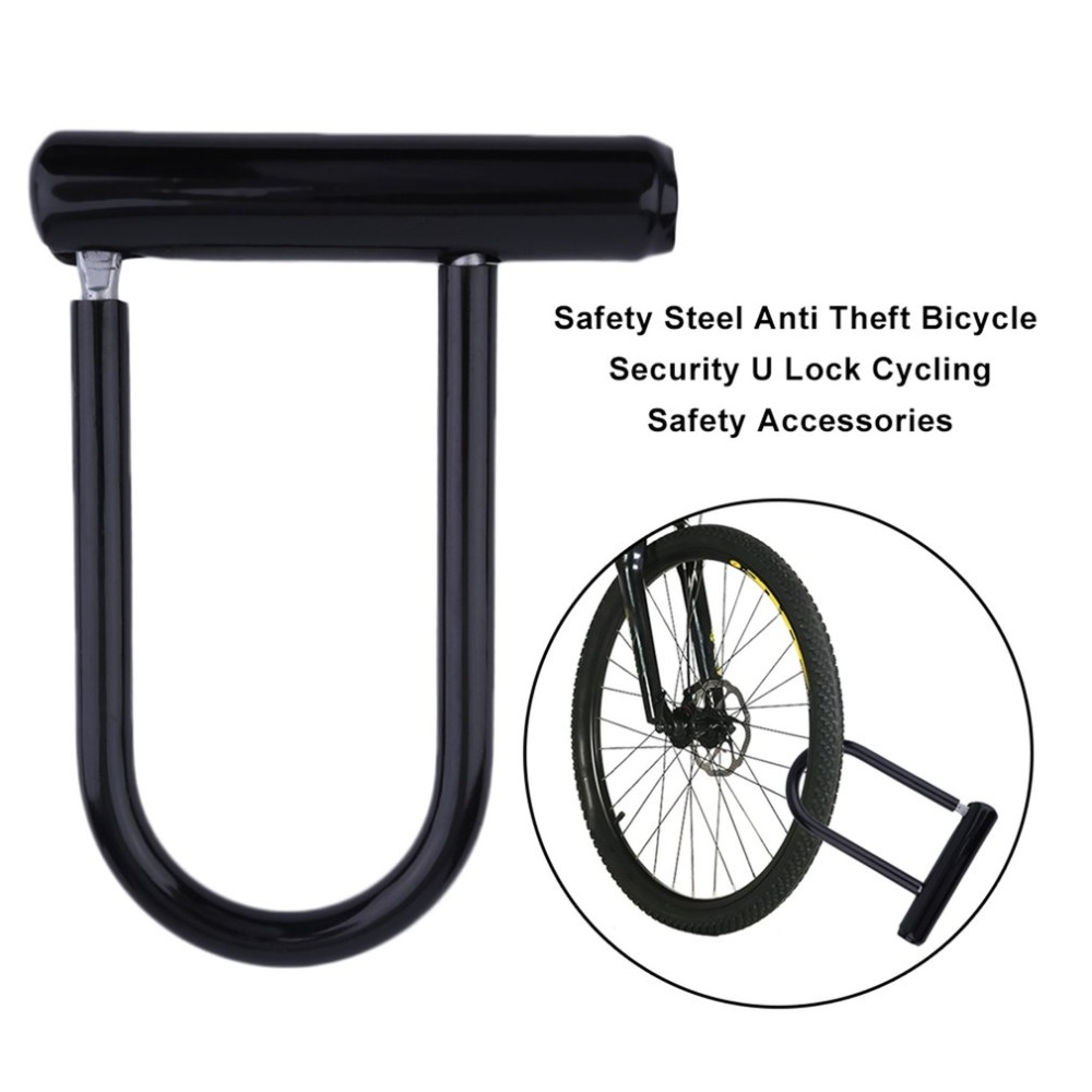 Universal Cycling Safety Anti-theft Bike U Lock Steel MTB Bike Heavy Duty Lock