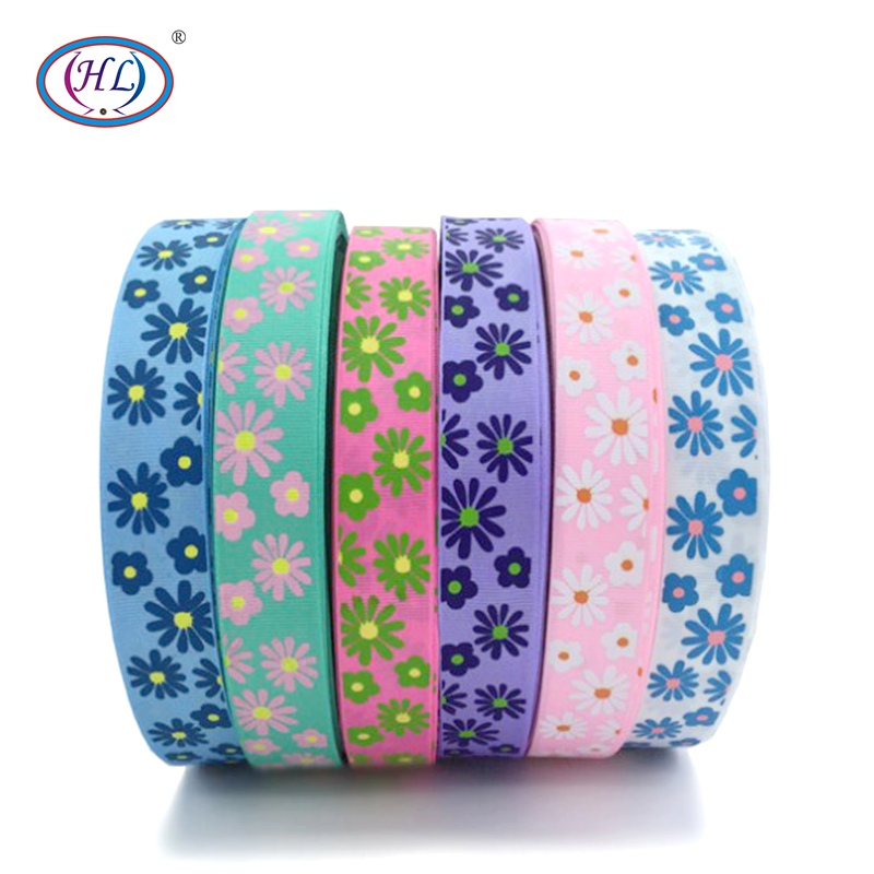 "HL 1"" 6 Meters/lot Printed Flowers Grosgrain Ribbons Wedding Party Decorative DIY Gift Box Wrapping Belt Making Hair Bows"