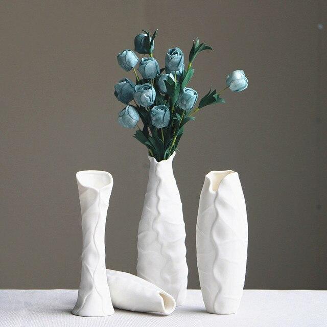 Modern Home Decoration Creative Vase Ceramic Tabletop Flower Lotus
