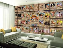3d wallpaper photo wallpaper custom kids room 3d mural One Piece luffy painting livingroom TV sofa background wall sticker mural