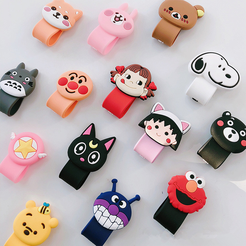 Cute Cable Organizer Bobbin Winder Protector Wire Cord Management Marker Holder Cover For Earphone iPhone Sansung MP3 USB