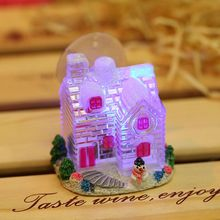 new creative christmas decorations led light western festival gifts resin sucker small house christmas gifts
