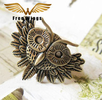 New Fashion Women Jewelry Finger Rings Retro Eyes Owl Opening Wholesale Christmas Gift B0D45/5D