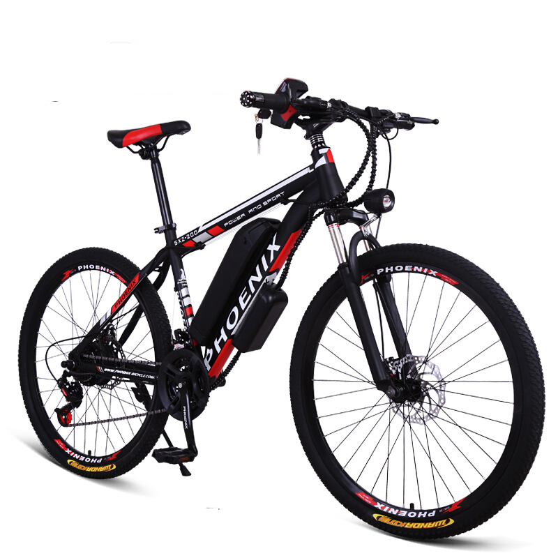 26inch electric mountian bike 36V 250W Motor electric bicycle 21/27speed ebike Adults travel bike Mechanical suspension bicycle